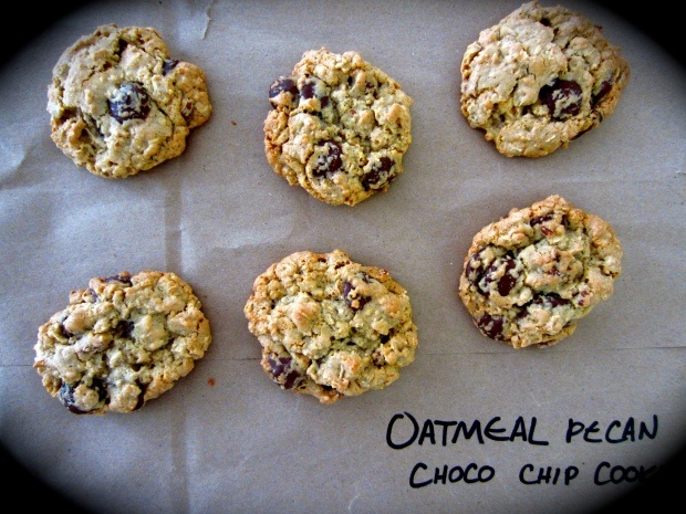 oatmeal pecan chocolate chip cookies | Nommy Noms | Pinterest