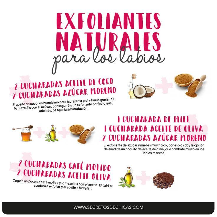 Hoy os traigo 3 exfoliantes naturales para los labios que podéis hacer en casa con productos naturales. ¡Os van a dejar unos labios perfectos!