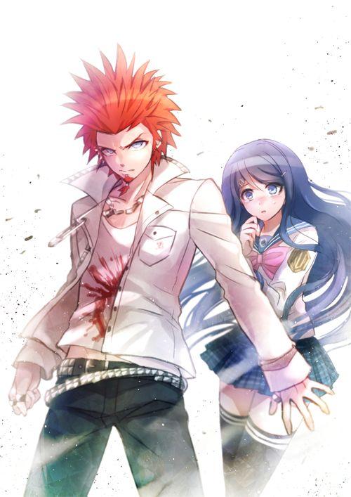 Dangan Ronpa - Leon Kuwata and Sayaka Maizono