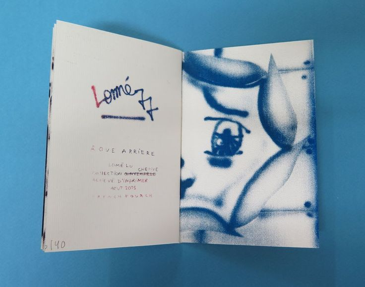 LOMÉ LU - MADE 3 NEW ZINES + French Fourch