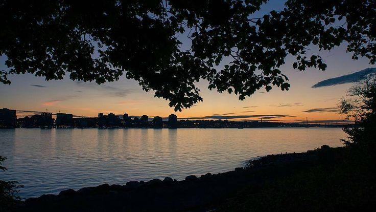 From the Dartmouth waterfront at dusk.  http://www.MervEdinger.com #RE/MAX nova haligonia.cafrom @realtygeek - One night in Dartmouth. #Dartmouth #halifax #novascotia #halifaxwaterfront #yhz #visitnovascotia #sunset #shillouette #igers_novascotia #realtygeek #halifax #yhz #novascotia #canada