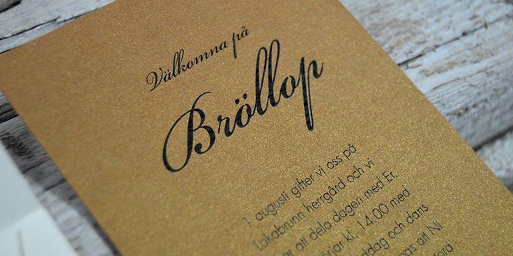 Tryck fina bröllopsinbjudningar till bröllop, dop och festinbjudningskort #bröllop #brollop #inbjudan