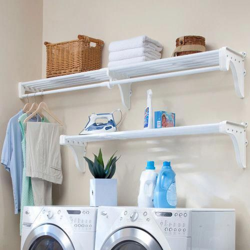 Found It At Wayfair Expandable Laundry Room Shelving Kit Dreamlaundryroom Laundry Room Shelves Laundry Room Storage Small Laundry Room Organization