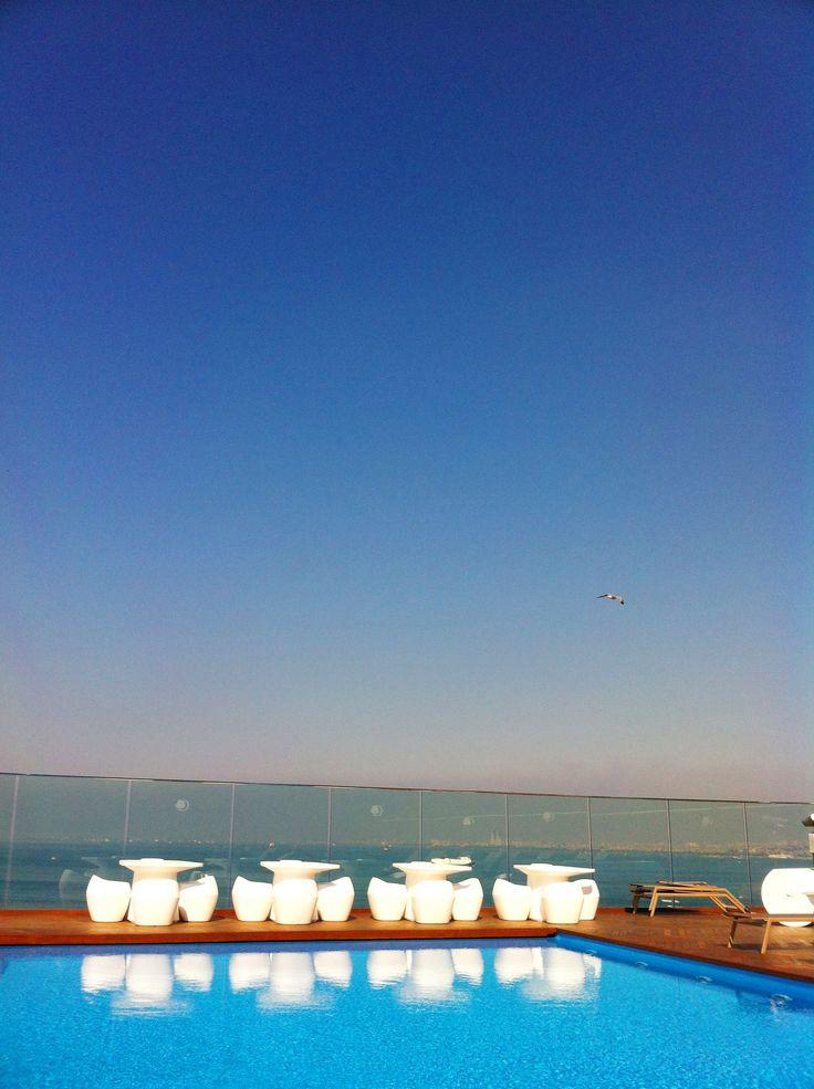 Pool situation overlooking Sea of Marmara, Istanbul #travel #pool #love