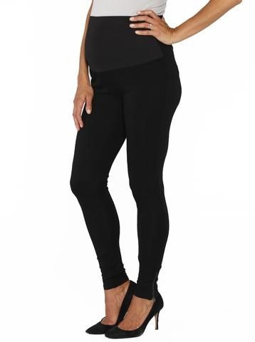 Luxe High Waist Fitted Pants with Zipper Details, $49.95, are the maternity work pants you can't live without! Dress them up or down for the ultimate in maternity style and comfort.