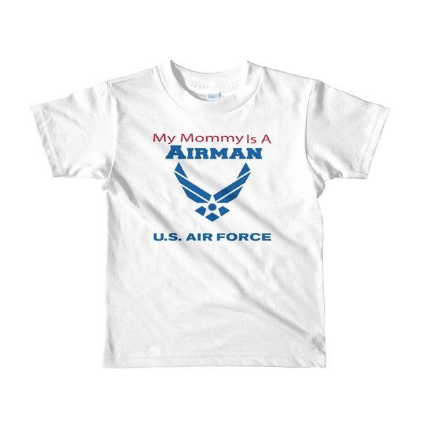 My Mommy is an Airman - Short sleeve kids t-shirt