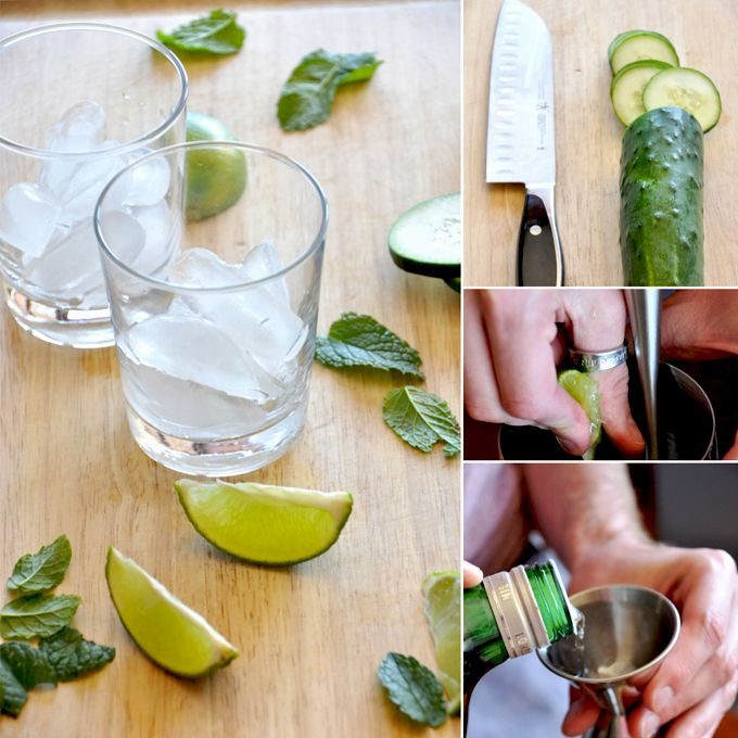 Cucumber Cooler Cocktails - so simple and tasty!