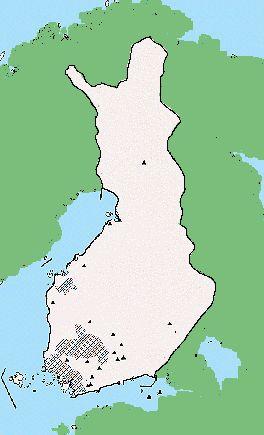Suomen asutus rautakauden keskivaiheilla  Kuva: Museovirasto
