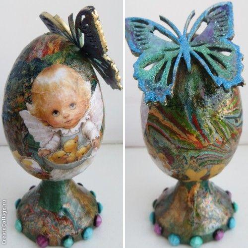 Мармурированые Пасхальные яйца удались