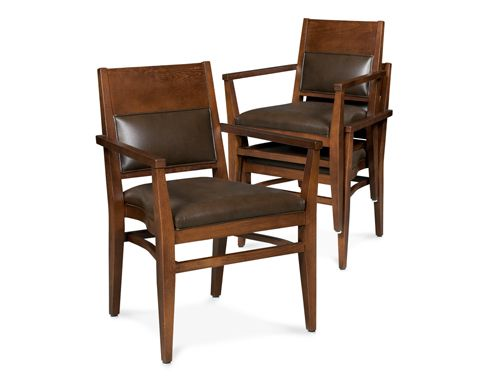 Fairfield Chair Co. Stacking Leather Chair