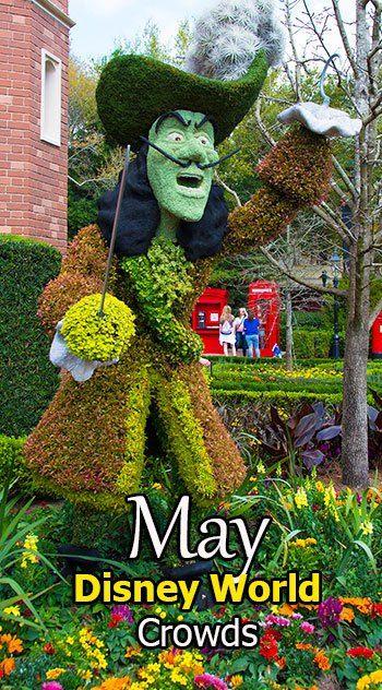 Disney World Crowd Calendar May 2018