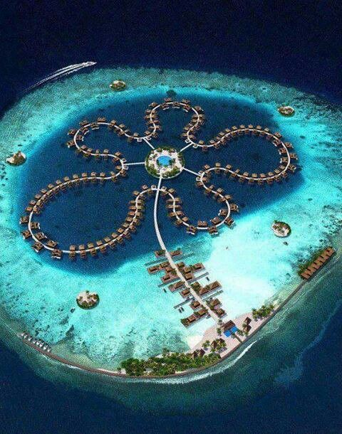 The Maldives is a group of small islands arranged in the Indian Ocean known for their coral delightfulness.