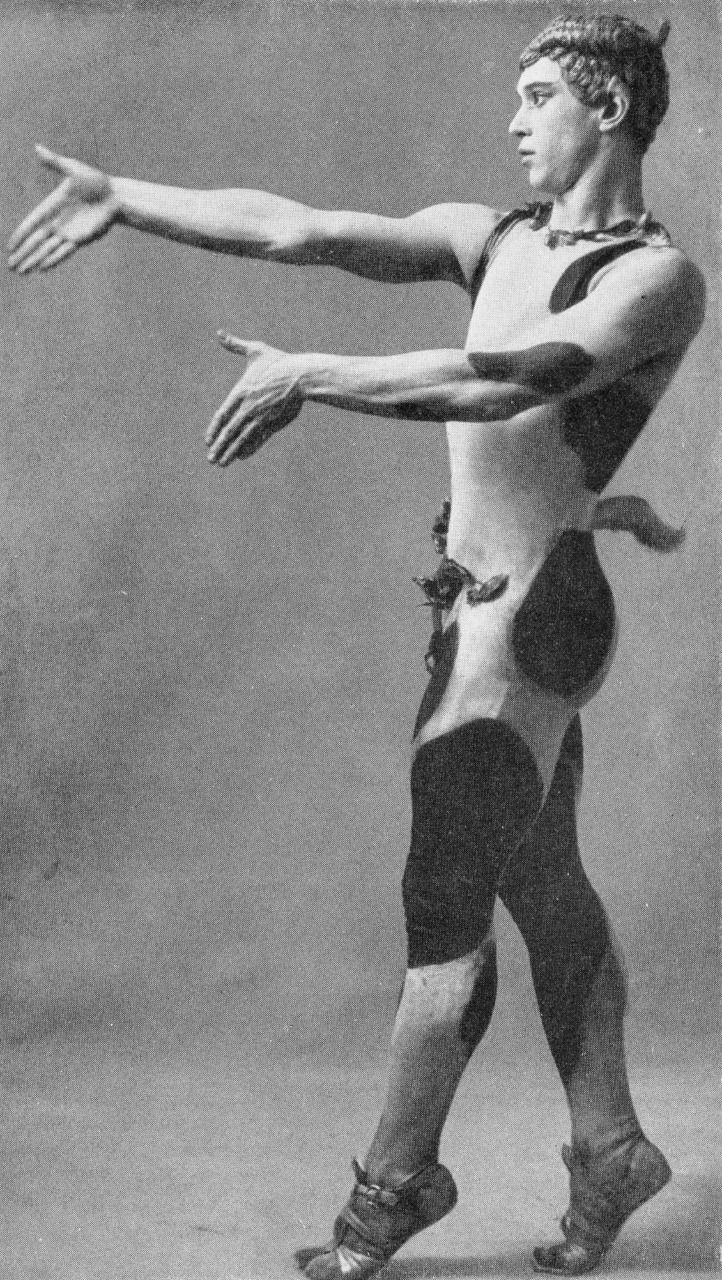 Vaslav Nijinsky primo ballet dancer in costume for Afternoon of a Faun, music Debussy