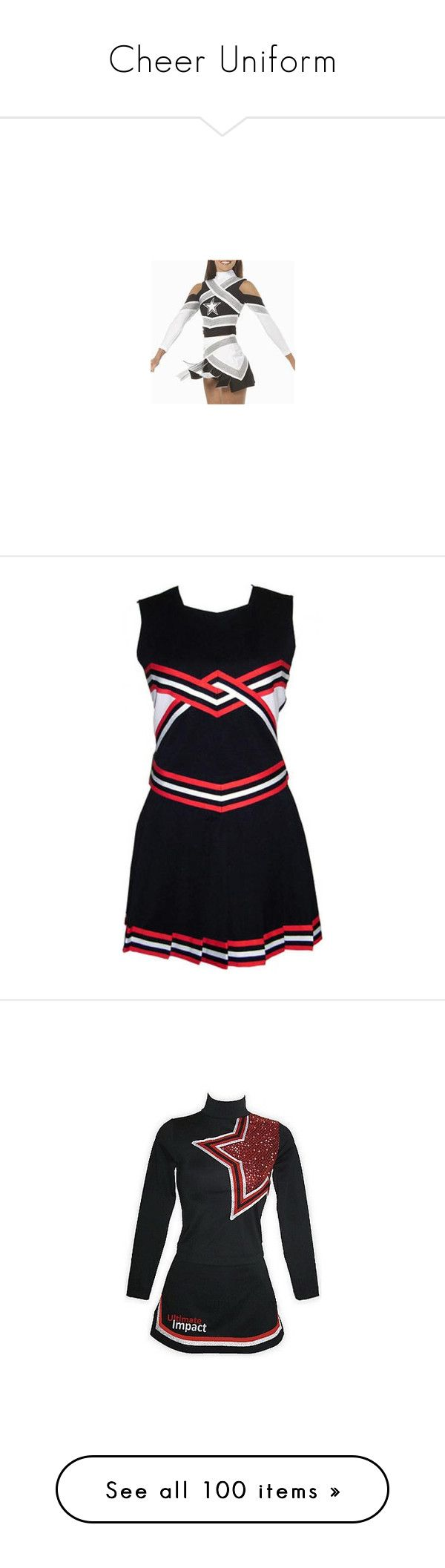 """""""Cheer Uniform"""" by hannah-e ❤ liked on Polyvore featuring cheerleading, cheer, sports, cheer uniform, cheer/dance, dresses, home, kitchen & dining, uniform and cheerleading uniforms"""
