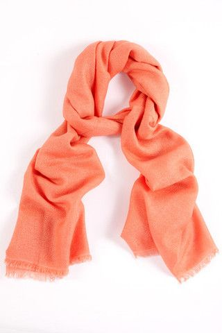 Coral Pink 100% Cashmere Shawl:  For the modern woman with an eclectic fashion sense, this trendy coral pink pashmina is a sleek statement of elegant luxury made from only the finest cashmere.  Features include:      100% Cashmere      Handwoven with French cut ends      Size - 75 x 195 cm      Weight - 175g.  Our shawls are authenticated with a Chyangra Pashmina logo. This hallmark guarantees that the highest quality and most genuine cashmere is used in our product.