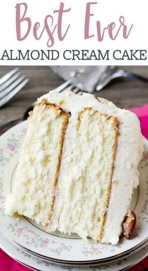 Almond Cream Cake Recipe - # cake #mandel # recipe # cream - # white cake recipe