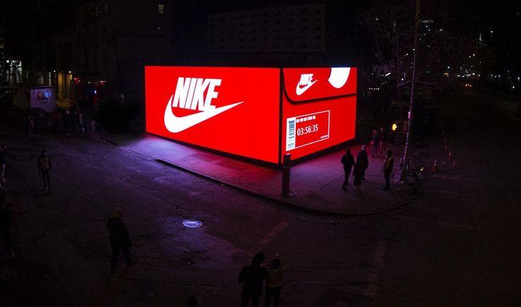 NIKEの新アプリPRーマンハッタンに巨大靴箱型ポップアップストアが登場   AdGang