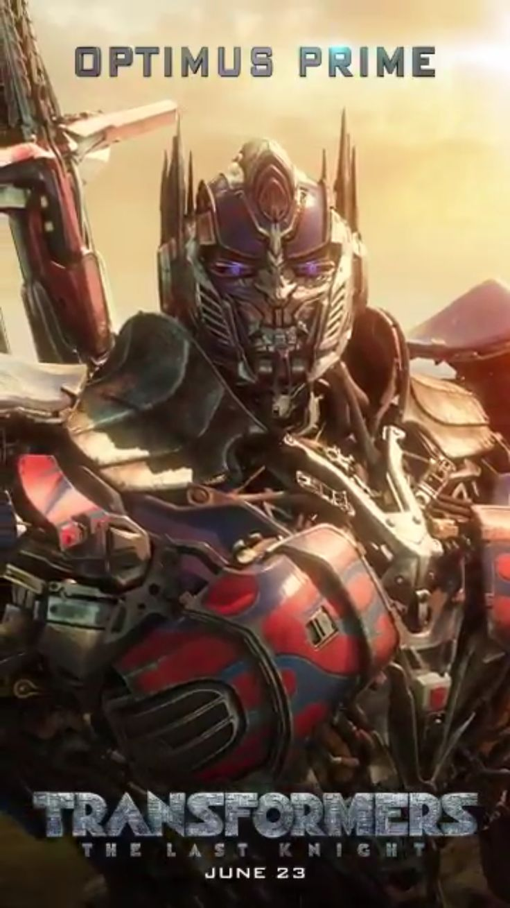 Optimus Prime in Transformers: The Last Knight promotional motion poster