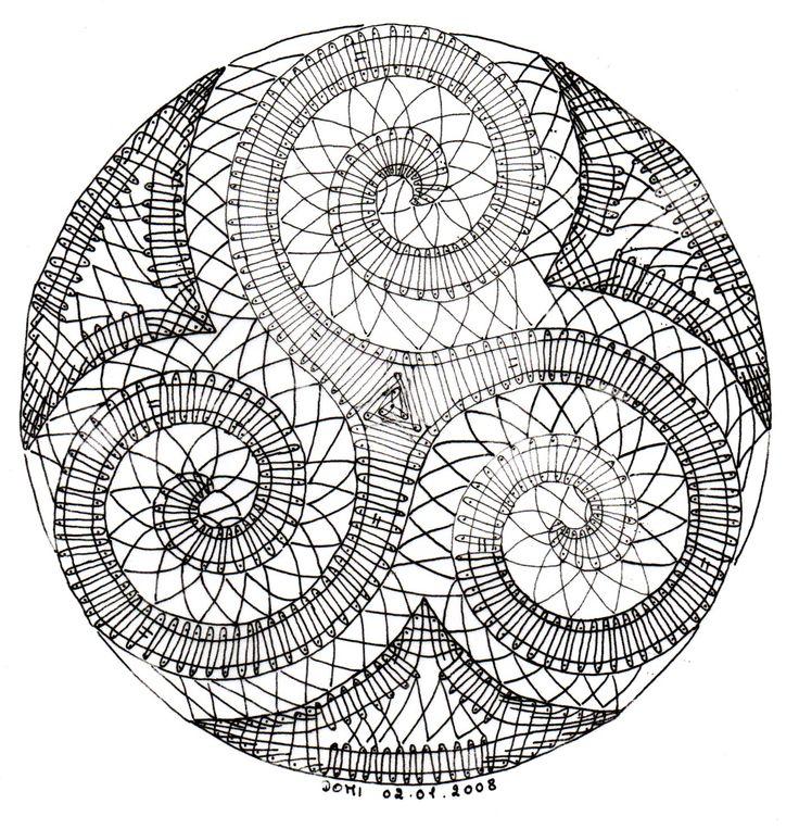 Pour ce début d'année, Dominique vous offre un modèle de triskel.     Il a été réalisé par Gaby.       NB : Après la réalisation du modèle, ...