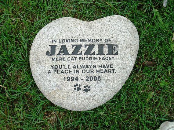 Pet headstone 13 por RealStoneCarving en Etsy