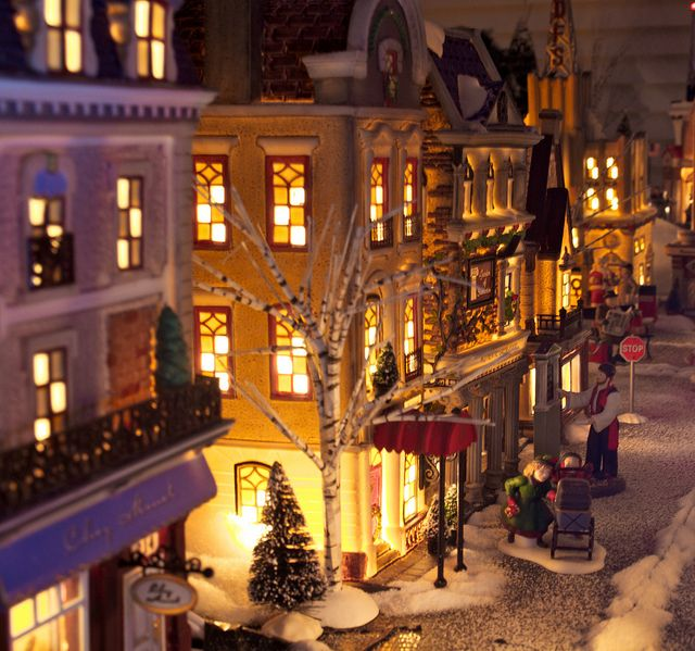 Another pinner said: Can't wait to put up my christmas village from my mommy! I said: awwww.......how sweet.