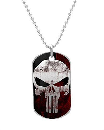 Custom The Punisher Logo Dog Id Tag Pendant For Pets 2 Sides ** Click image for more details.