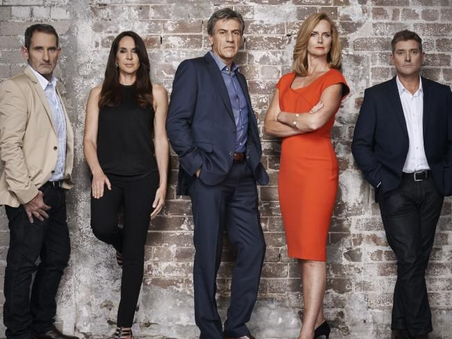 Shark Tank cast Steve Baxter, Janine Allis, Andrew Banks, Naomi Simson and Glen Richards. Picture: Supplied/Channel 10.