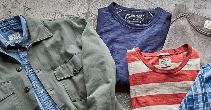 Vintage collection: well-worn items, denim hues and soft fabrics | JACK & JONES