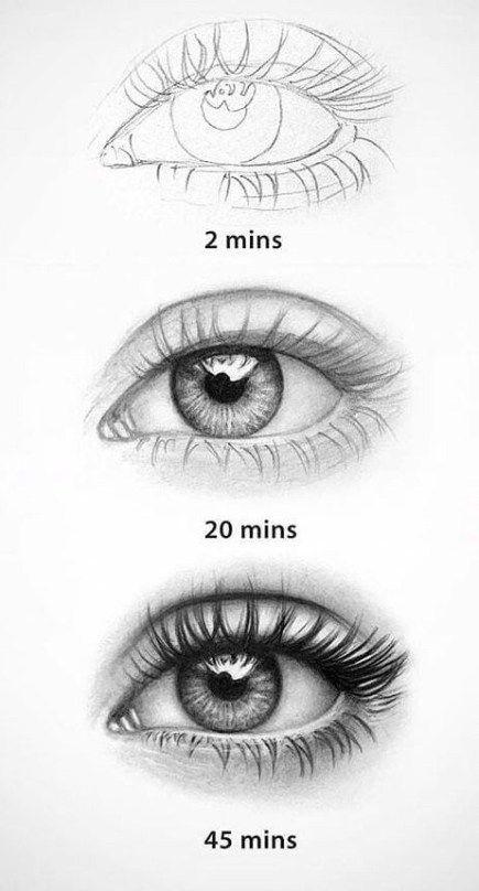 20 erstaunliche Ideen für das Augenzeichnen und Inspiration · Helleres Handwerk