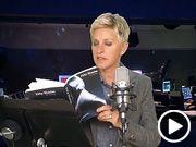 Ellen Degeneres reads 50 shades of Grey