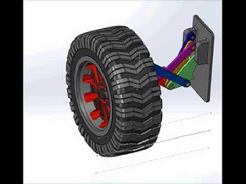 Rectilinear 8-bar suspension - YouTube