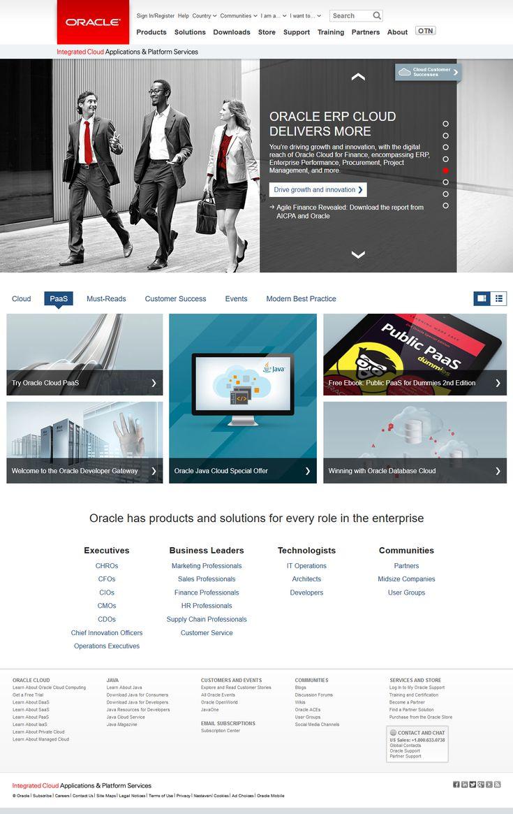 Oracle website in 2017