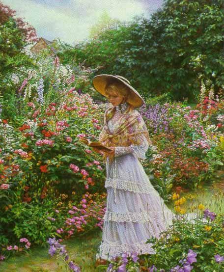 """'Garden Stroll while reading"""""""