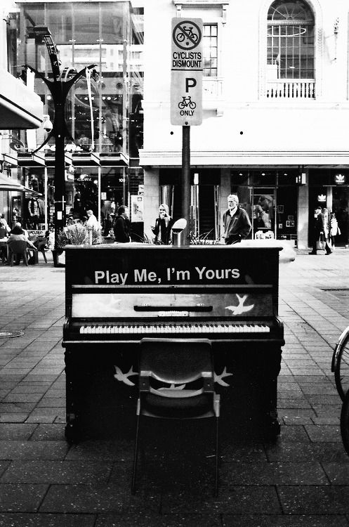 another Play Me piano street art installation...love these