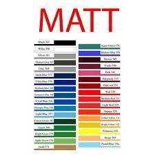 "10mtr x 12"" Matt Roll Self Adhesive Sign Making Vinyl Sticky Back Plastic Type"