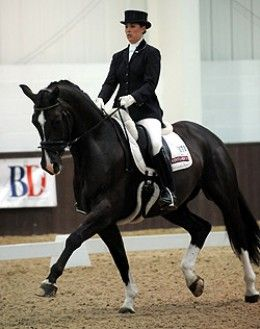 Charlotte Dujardin, the youngest rider on team GB, on Valegro in 2008