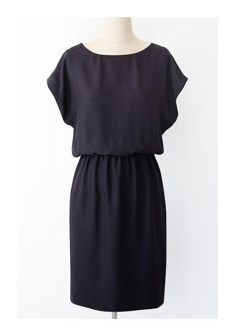Simple Dress Patterns For Beginners | Pattern Runway: Easy Short Sleeved Kimono Dress ~ Great for beginner ...
