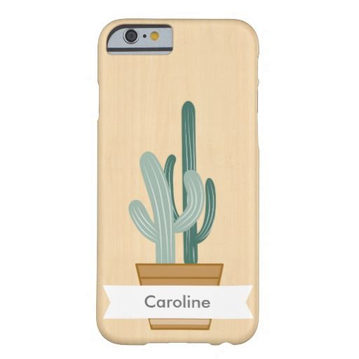 Wooden background and succulent Barely There iPhone 6 Case