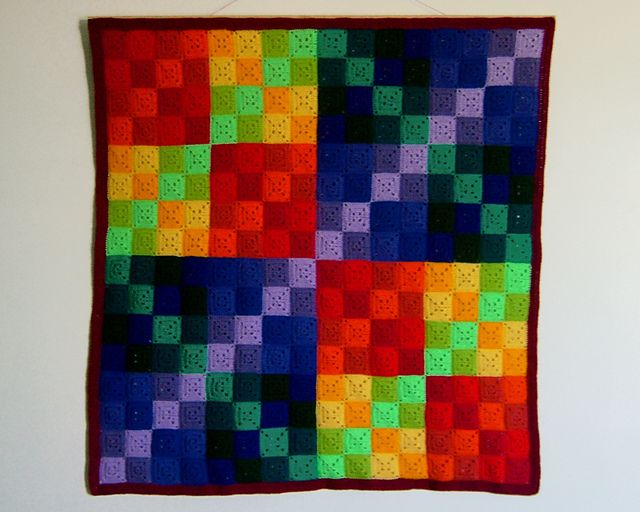 Finite Field - Knit or crochet afghan or wall-hanging representing a Galois field, which is also known as a finite field