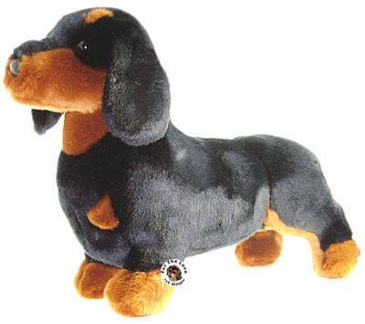 New Douglas Black Tan Dachshund Dog Stuffed Plush Dachshunds