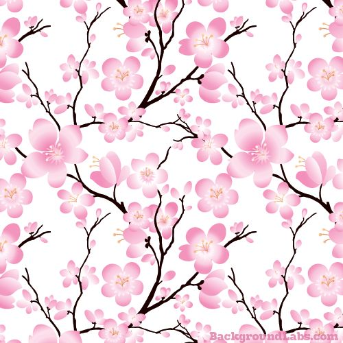 Cute seamless pattern with cherry blossom flowers on white background. Good for teacups?