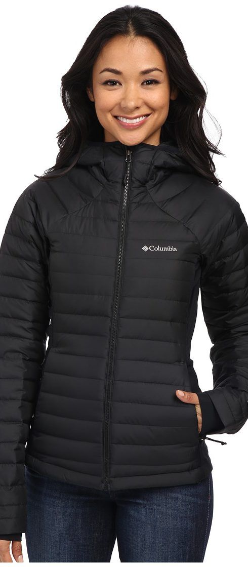 Columbia Gold 750 TurboDown Hybrid Hooded Jacket (Black) Women's Coat - Columbia, Gold 750 TurboDown Hybrid Hooded Jacket, 1623241-010, Apparel Top Coat, Coat, Top, Apparel, Clothes Clothing, Gift, - Fashion Ideas To Inspire