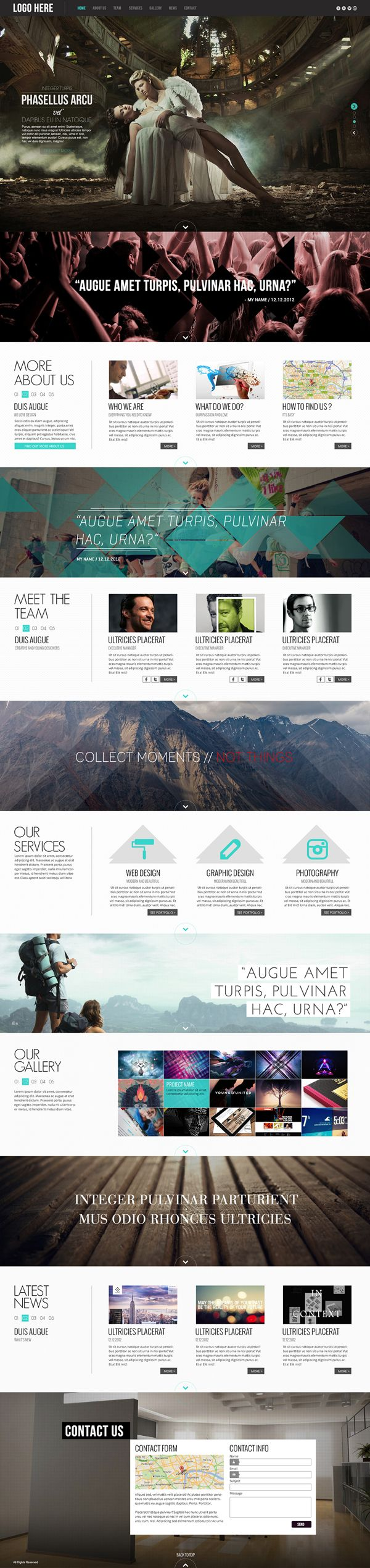 Pulsar - One Page #HTML5 Parallax #Website Template by AVAThemes, via #Behance