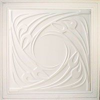 """Genoa Antique White (24x24"""" Pvc) Ceiling Tile by Antique Ceilings. $6.65. Easy to cut. High quality PVC matterial. Universal Installation - Drop in Grid system, Glue-on, Nail-on. Tin like look from a modern material. Can be painted with most any water or latex based paints. PVC ceiling tiles come in 24""""x24"""" size. Feather-light, easy to install, easy to clean, stain resistant, water resistant, dust free, and easy to cut. They can be cut with any house hold sciss..."""