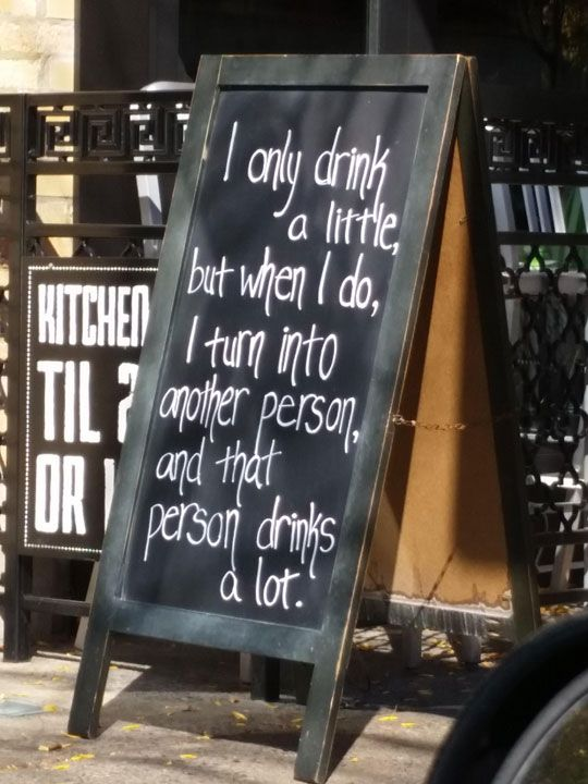 I Drink A Little...