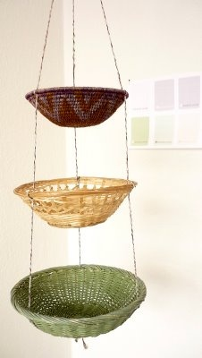 Would be easy to find these baskets at a thrift store.