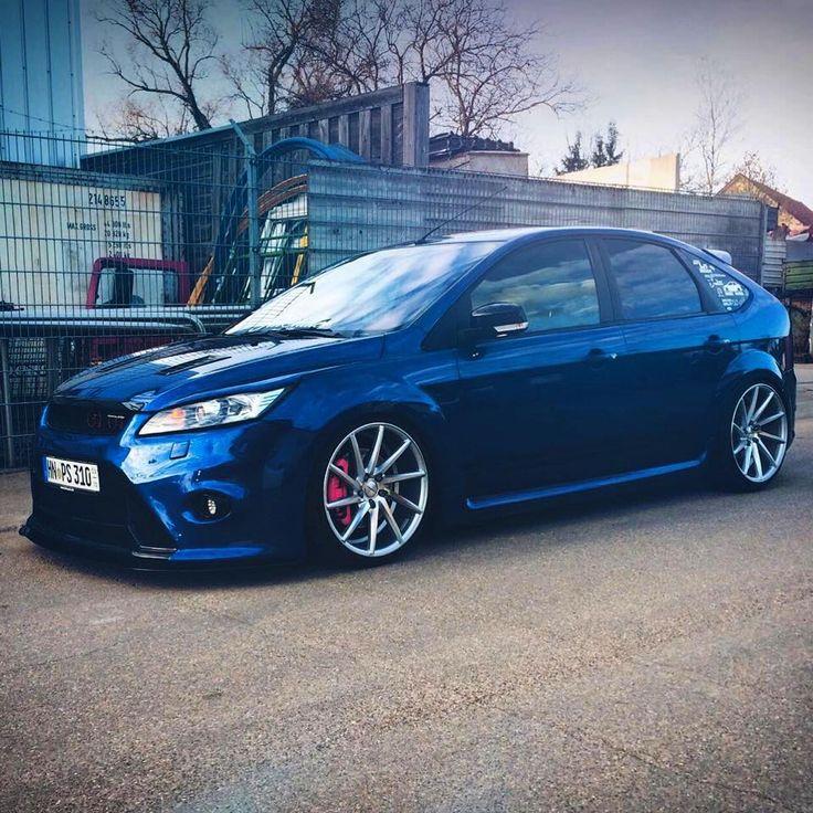 Ford Focus Mk2 facelifting 5D #Blue #big #Rims