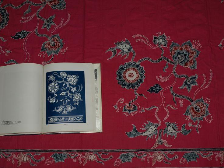 handdrawn pekalongan batik, remake of chinese indigo cloth