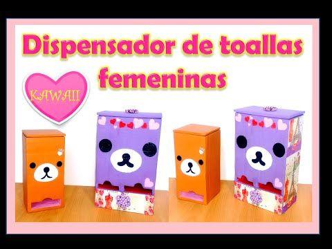 Dispensador de toallas femeninas Kawaii - YouTube