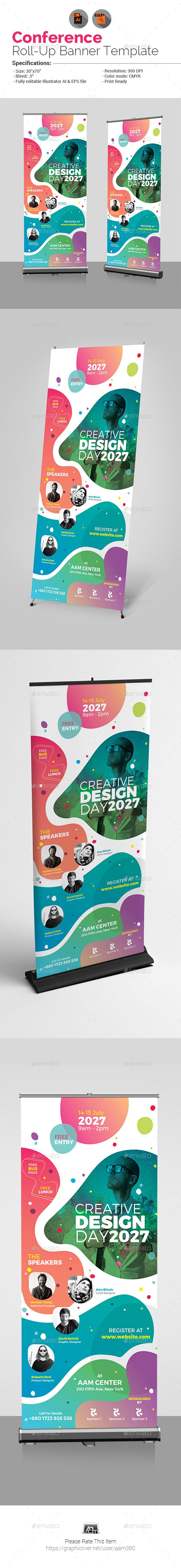 Conference #Rollup Banner - #Signage Print Templates